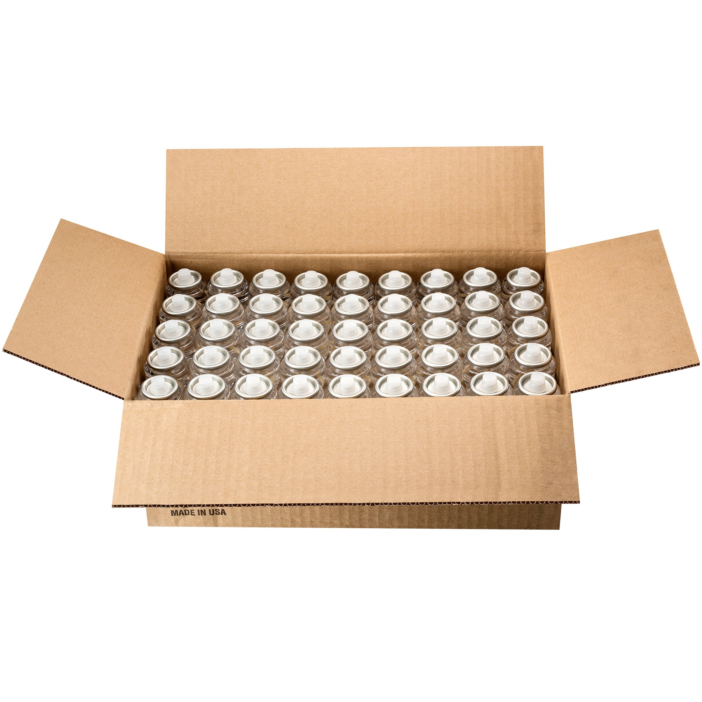 Bulk Tealight Fuel Cells Liquid Paraffin Oil Candles - Disposable - 8 Hour Burn (180 Pack) Made in USA by Candle Charisma