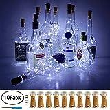 LoveNite Wine Bottle Lights with Cork, 10 Pack