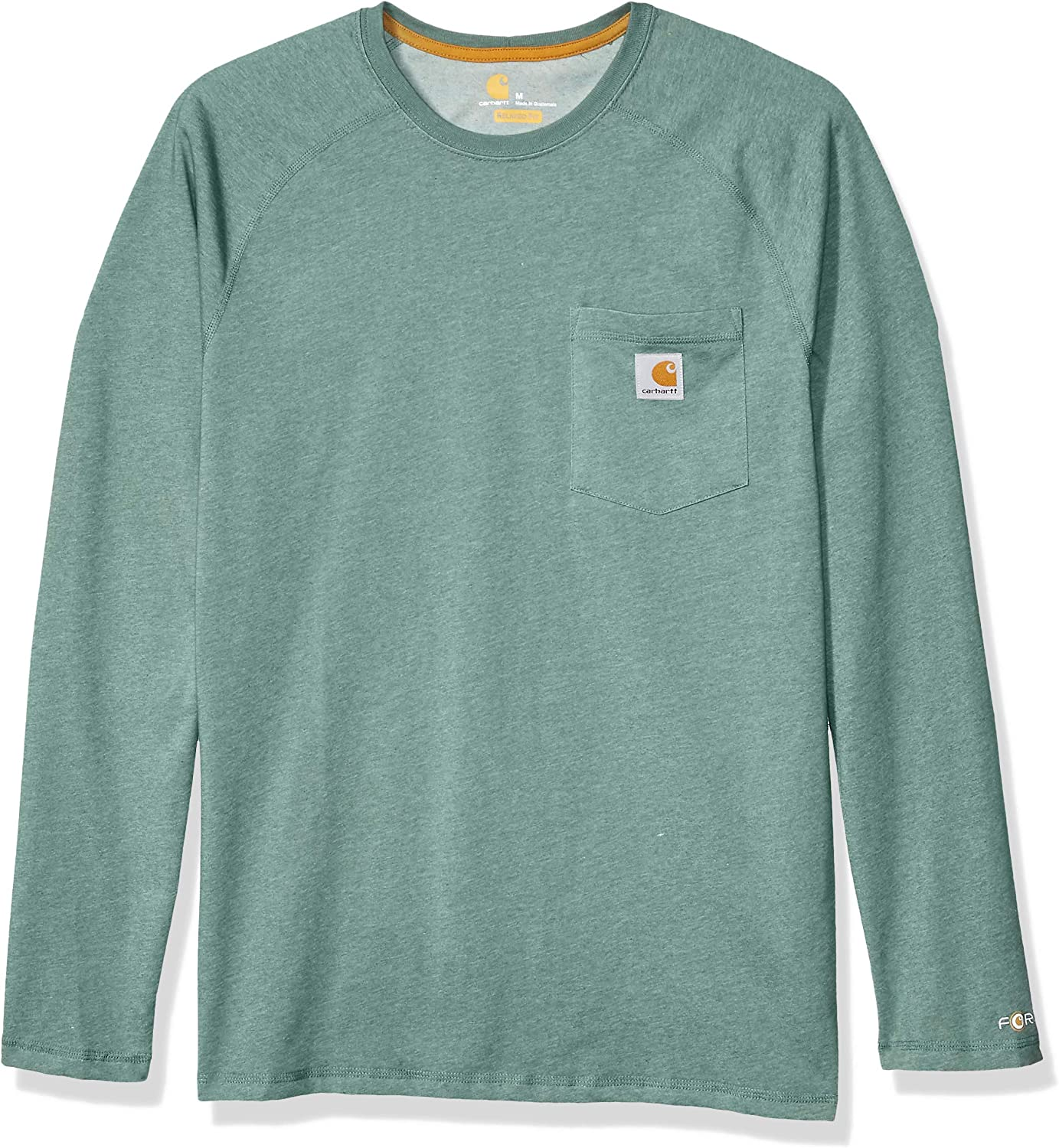 Amazon Com Carhartt Men S Force Cotton Delmont Long Sleeve T Shirt Regular And Big Tall Sizes Clothing
