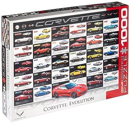 Amazon.com  EuroGraphics Corvette Evolution Jigsaw Puzzle (1000 ... 24f0fc6a2e6df