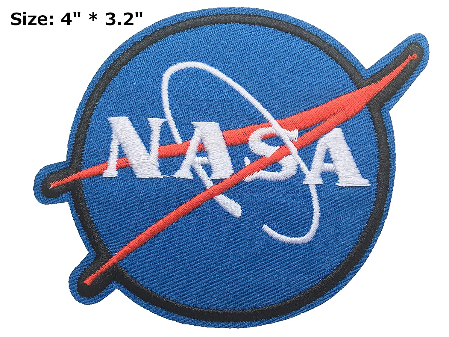 Dia. 2 3//4 NASA Logos Iron on Patches #Blue