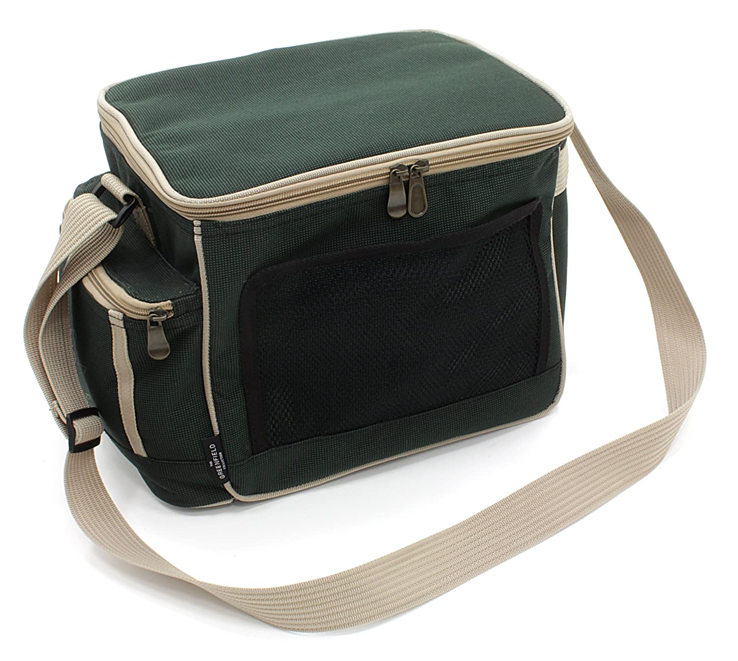 Greenfield Collection 15 Litre Luxury Lightweight Cool Bag - Forest Green Picnicware CB001H