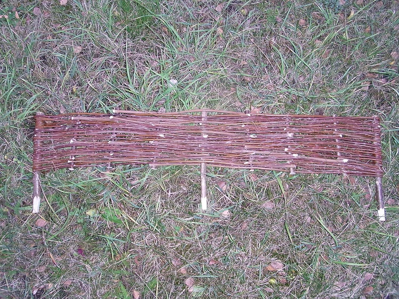 5 x mimbre de sauce Valla de para Bancal 60 x 30 cm: Amazon.es: Jardín