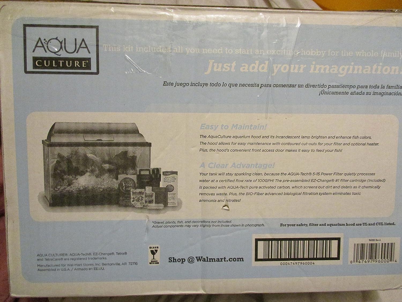 Amazon.com : Aqua Culture Home Aquarium Starter Kit 5 : Pet Supplies
