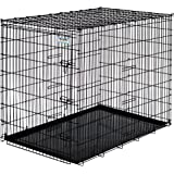 """Precision Pet Basic Dog Crate, Black, 54"""", for Dogs 100-135 Lbs."""