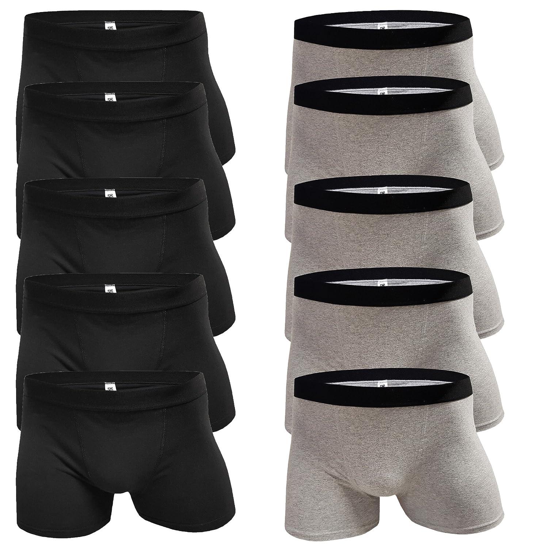 10 x Slim Fit Unterhosen Herren Boxershorts Men M – XXL