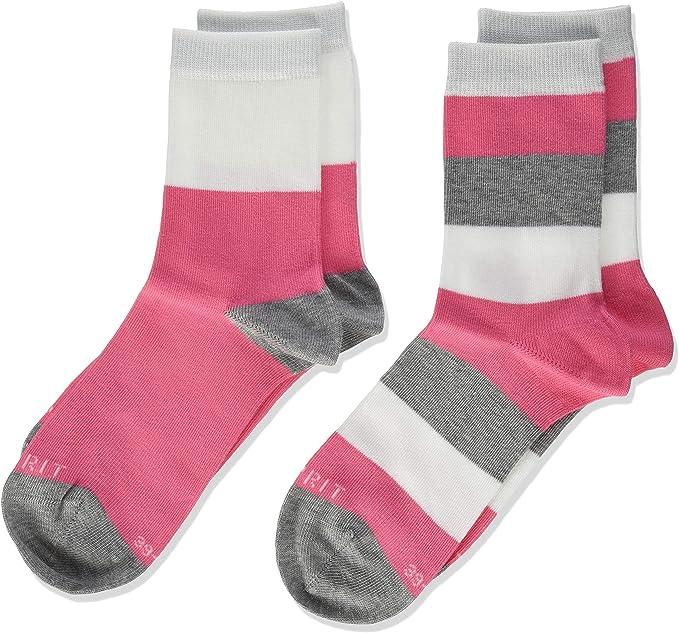 Esprit Block Stripe Calcetines altos (Pack de 2) para Niñas: Amazon.es: Ropa y accesorios