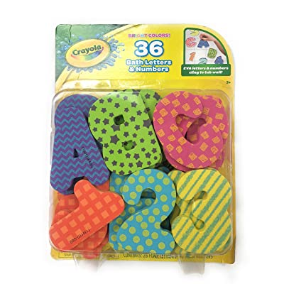 UPD Crayola Foam Bath Letters & Numbers in 36 Bold Colors: Toys & Games