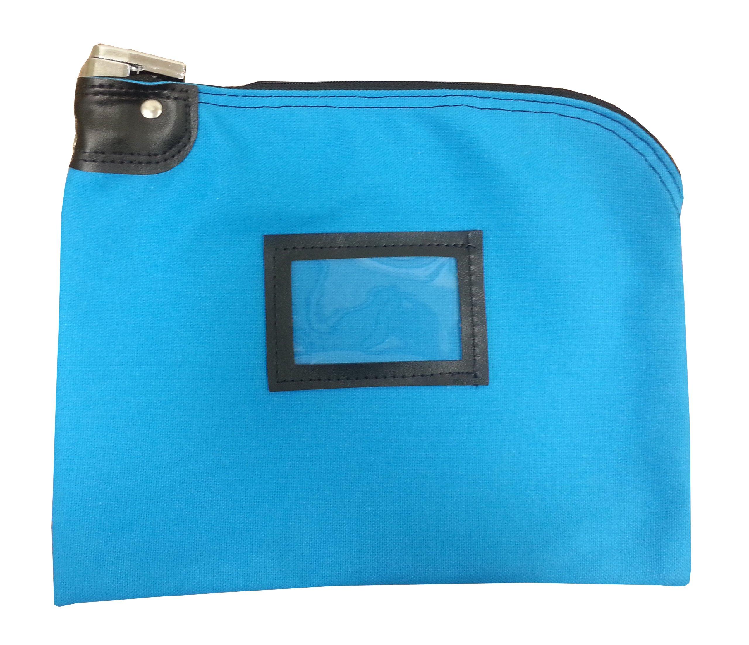 Locking Bank Bag Canvas Keyed Security Deep Sky Blue