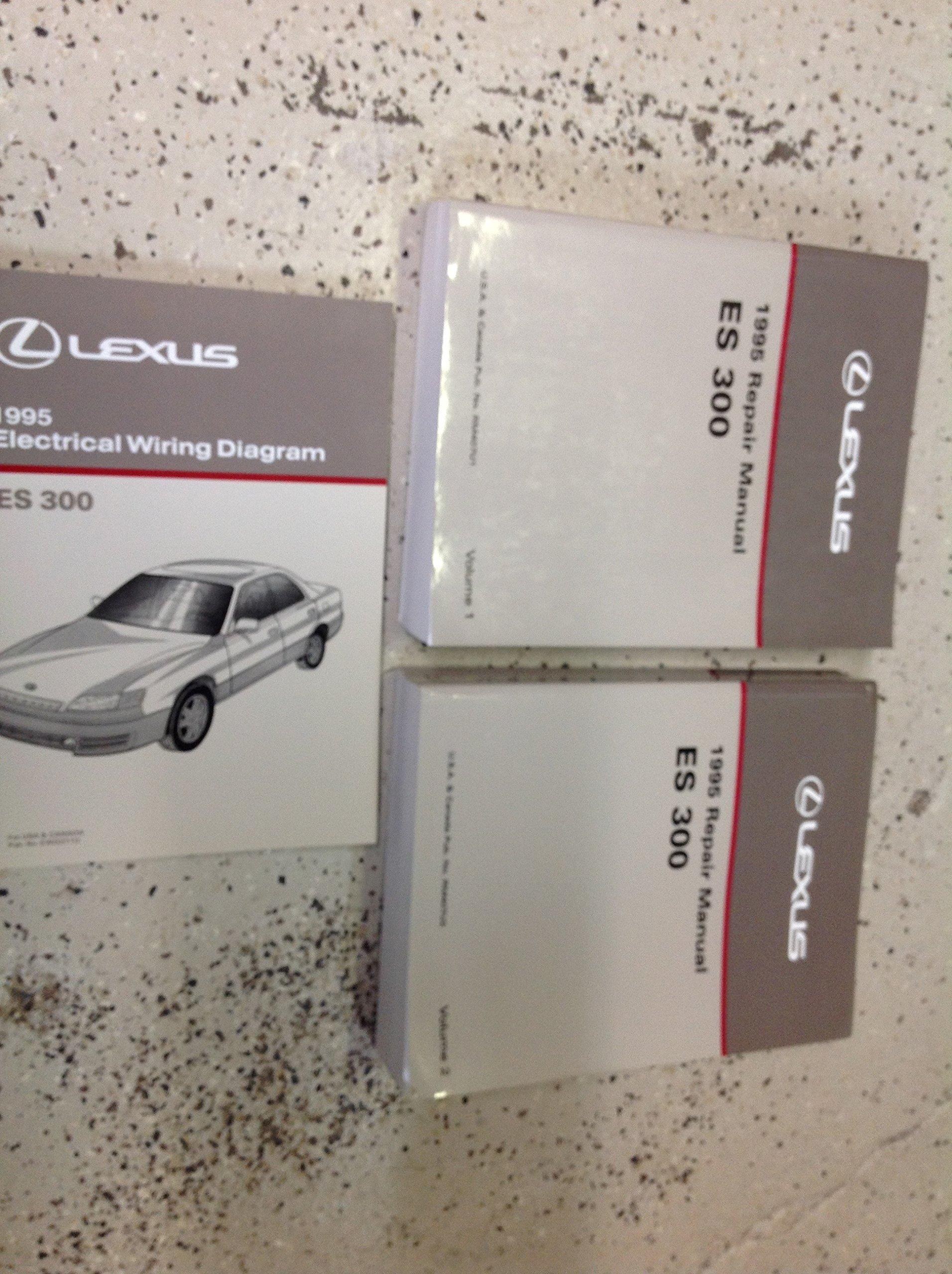 1995 lexus es300 es 300 service shop repair manual set w  lexus e300 1995 wiring diagram #12