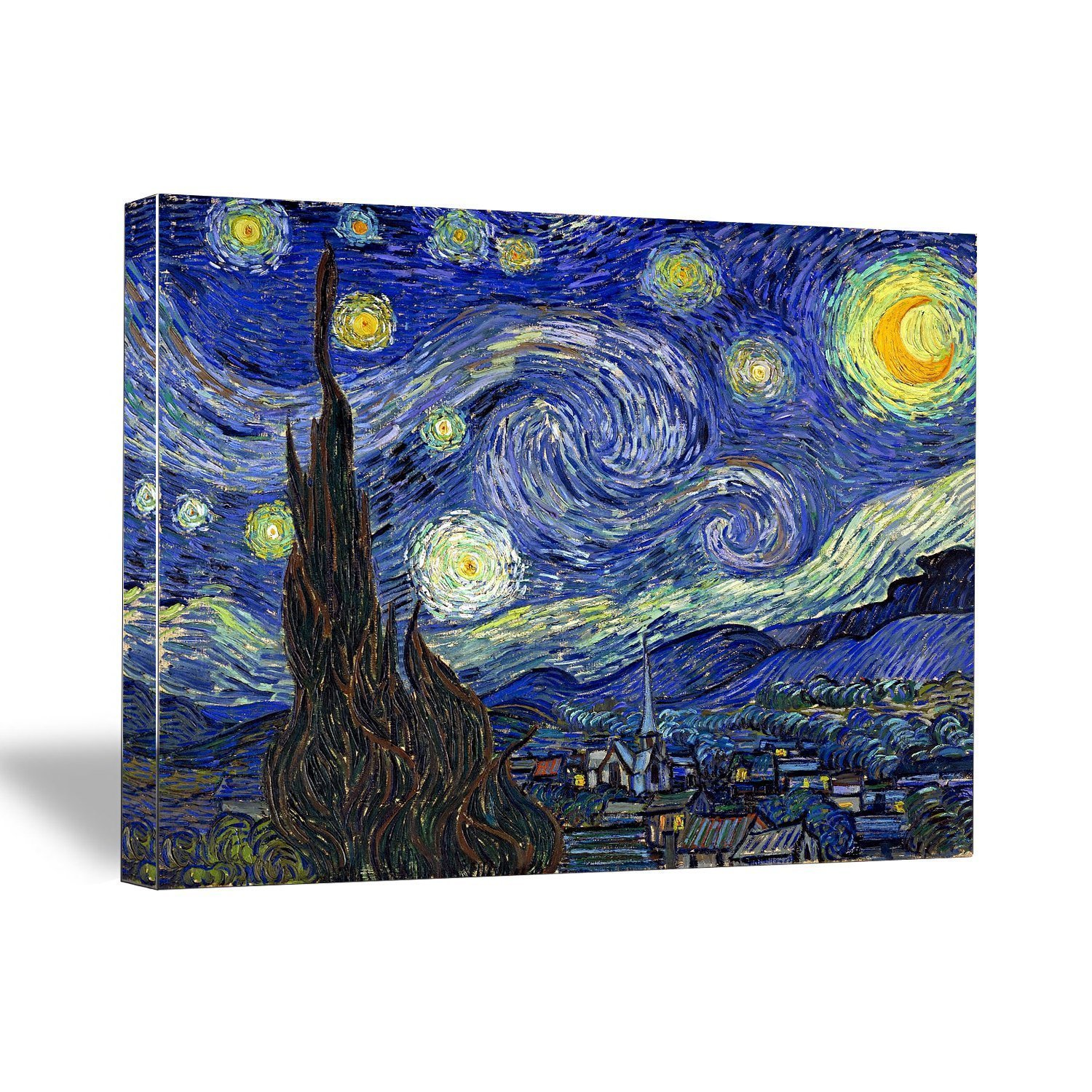 amazon com canvaschamp starry night by vincent van gogh stretched