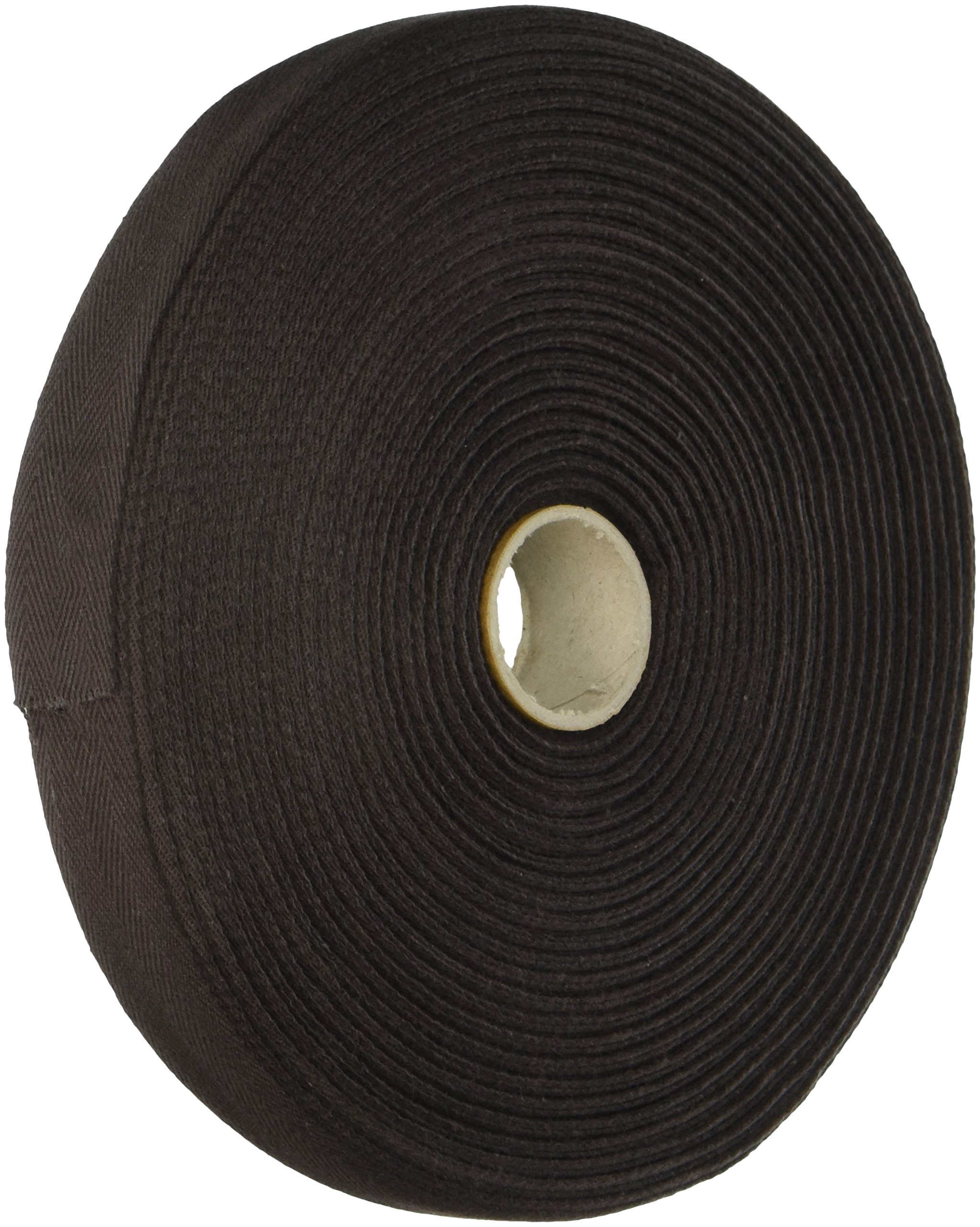 Products From Abroad 107-25-56 Cotton Twill Tape, 1-Yard x 55-Yard, Dark Brown