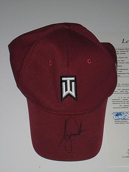 Tiger Woods signed Burgundy Nike 20Vr TW Fitted Golf Hat JSA Letter ... 33bc98893b2