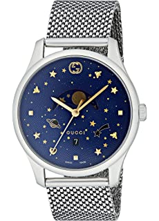 2c60b165bce Amazon.com  Gucci G-Timeless Stainless Steel Men s Watch with Black ...