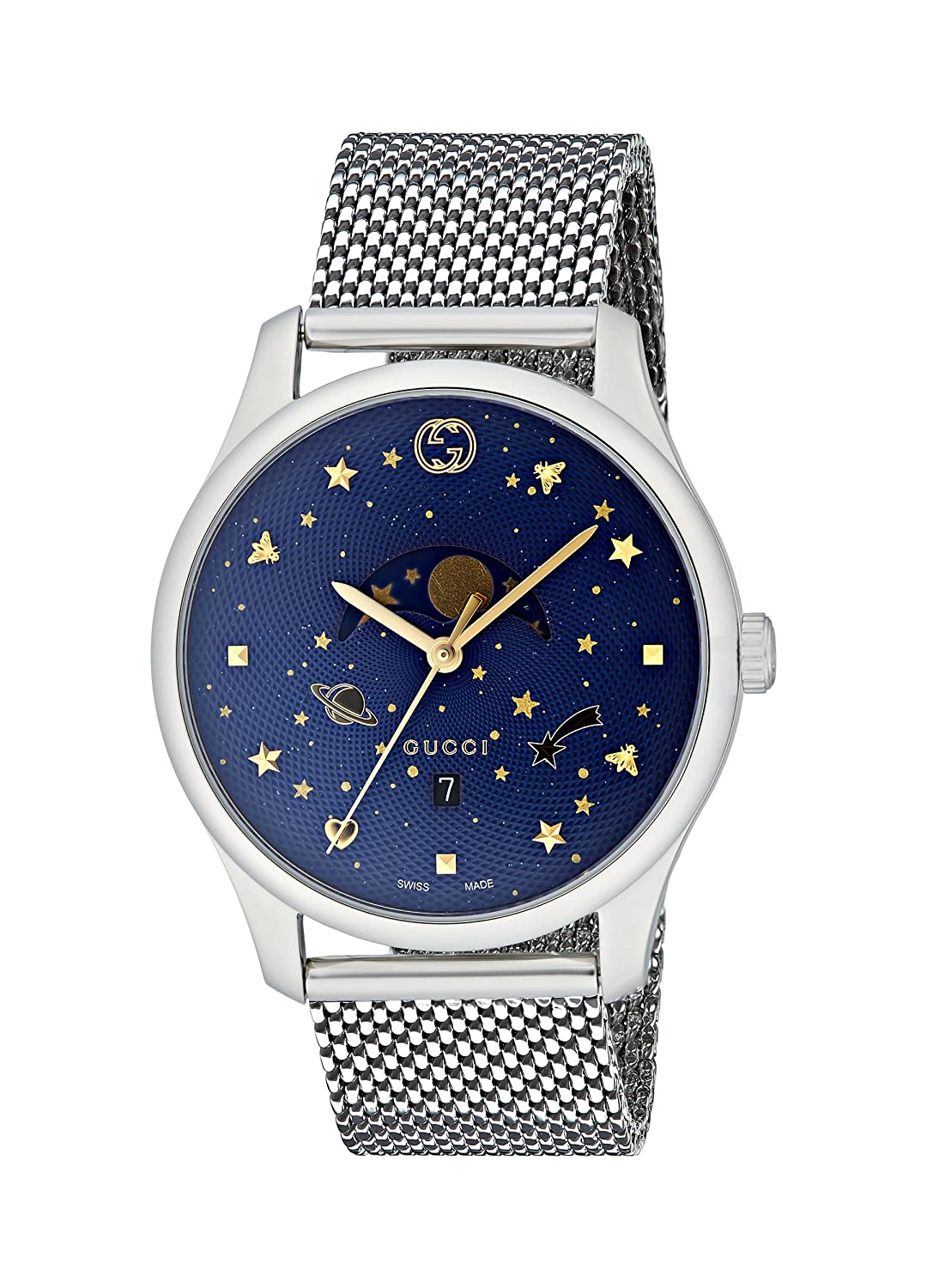 43072af5c64 Amazon.com  Gucci G-Timeless Blue Motifs Dial Mens Watch YA126328  Watches