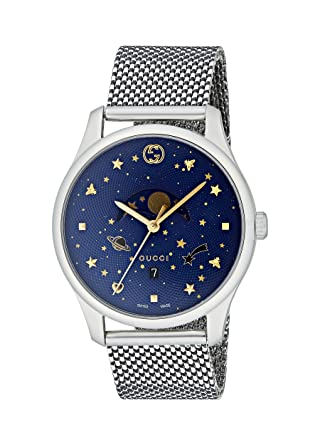 e449bad90f6 Image Unavailable. Image not available for. Color  Gucci G-Timeless Blue  Motifs Dial Mens Watch YA126328