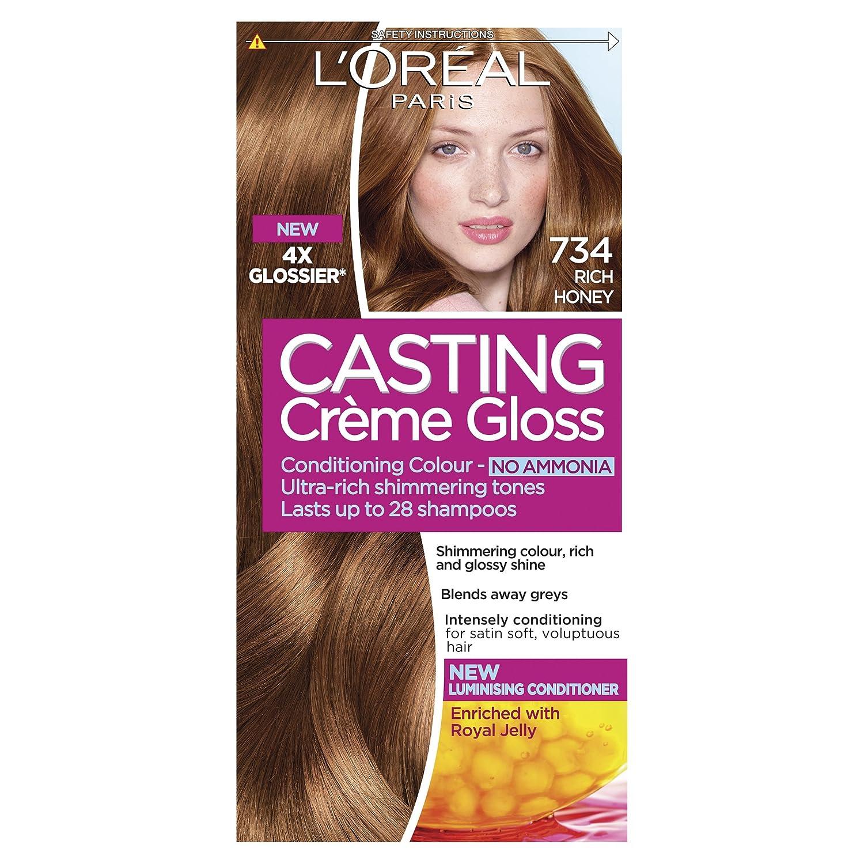 Loral Casting Creme Gloss Semi Permanent Hair Dye 734 Rich Honey