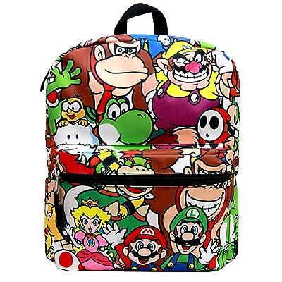 "14"" Super Mario All Over Print School Backpack"