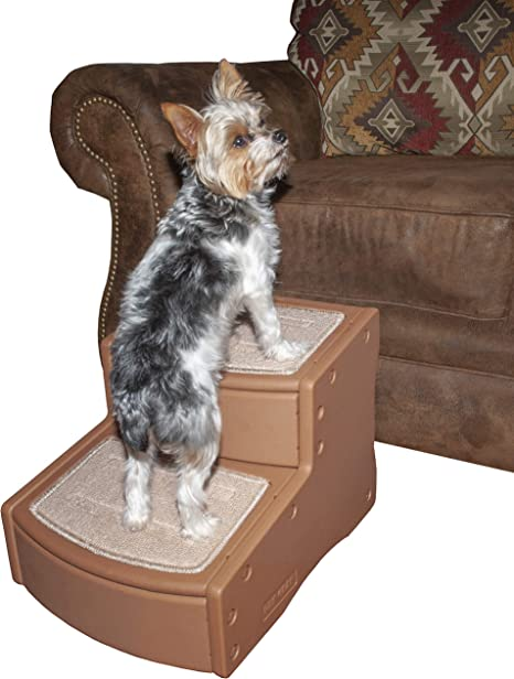 2 Step Foam Pet Stairs Lightweight Non-Slip Pets Ladders Stool for Dogs /& Cats Up to 200 Pounds Doggy Steps Coffee