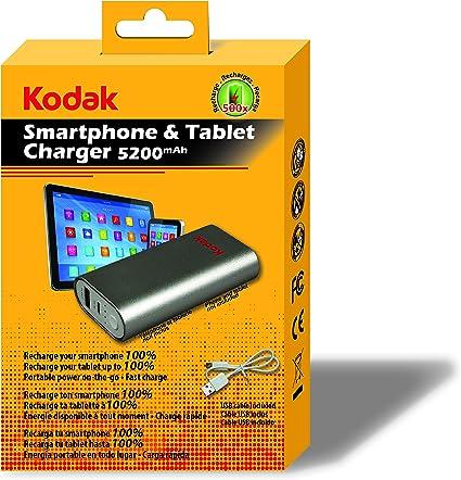 KODAK Powerbank Cargador portátil para Smartphone/Tablet 5200 mah ...