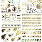 Amazon Price History for:NHI Metallic Temporary Tattoos, 150+ Flash Tattoos Gold Silver, 8 Sheets - Aztec Tattoo, Mandala Tattoo, Mehndi Tattoo, Boho Temp Tattoo