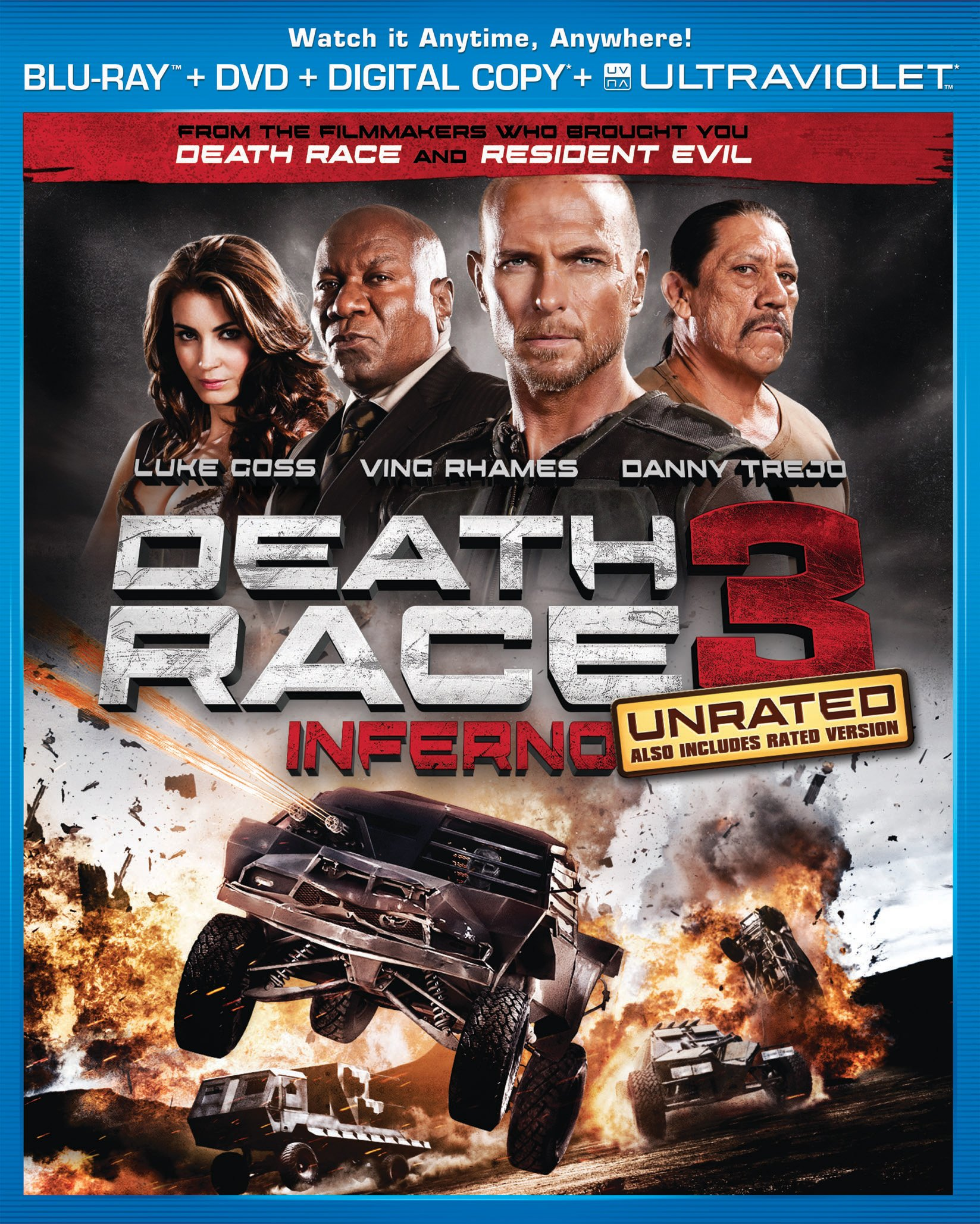 Blu-ray : Death Race 3: Inferno (With DVD, Ultraviolet Digital Copy, 2 Pack, AC-3, Digital Theater System)