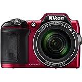 Nikon Coolpix L840 Digitalkamera (16 Megapixel, 38-fach opt. Zoom, 7,6 cm (3 Zoll) LCD-Display, USB 2.0, bildstabilisiert) rot
