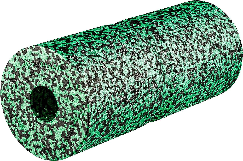 BODYMATE Foam Roll Care Medio-Duro con rientranza per alleviamento della Pressione sulla Colonna vertebrale con e-Book 35x14cm