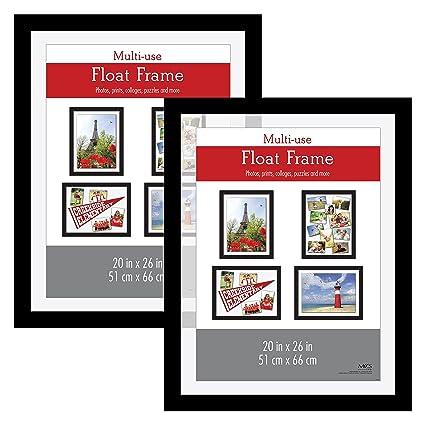 Amazon.com - MCS 20x26 Inch Float Poster Frame (2pk), Black (65689) -