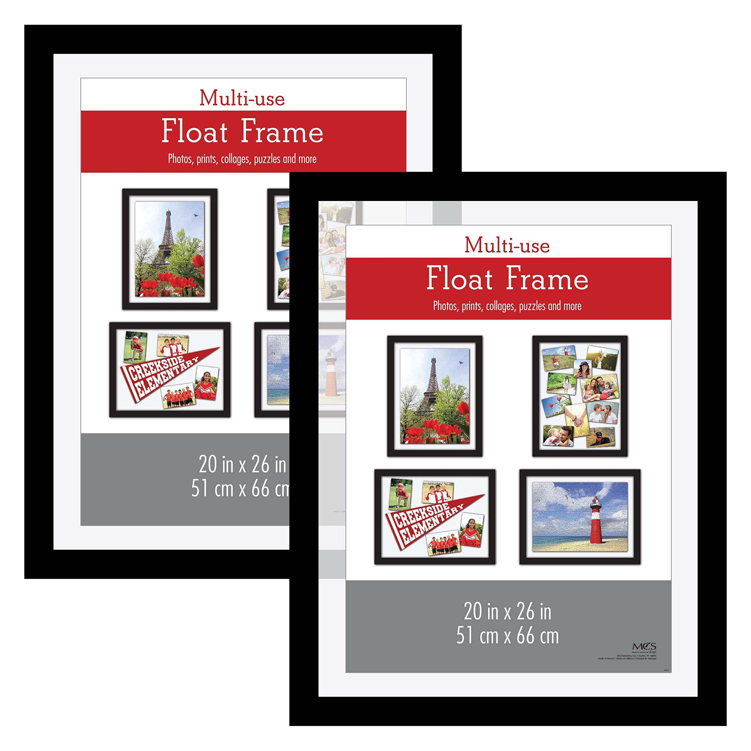 MCS 20x26 Inch Float Poster Frame (2pk), Black (65689)