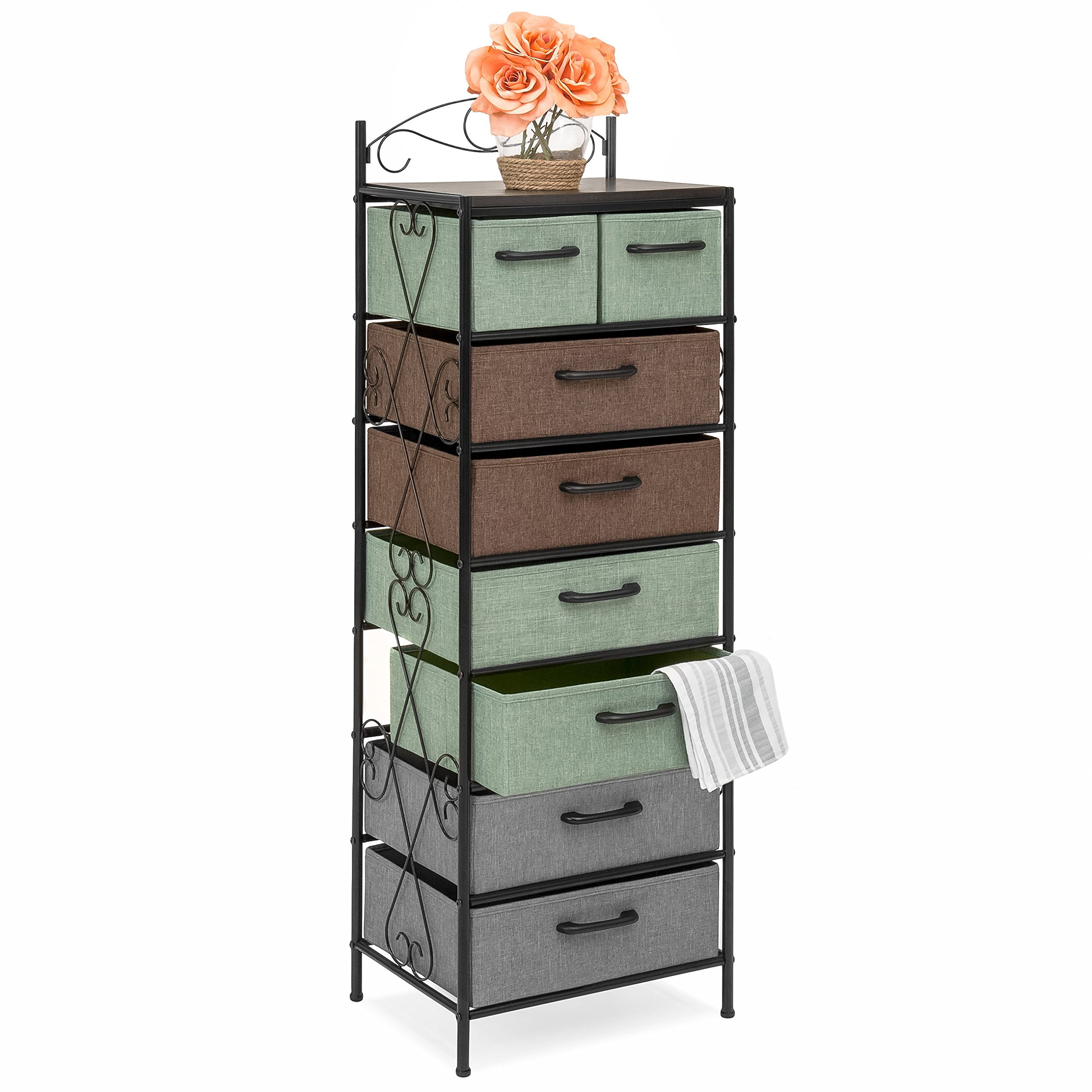 Best Choice Products 8-Drawer Metal Tower Storage Cabinet (Multicolor) by Best Choice Products (Image #1)