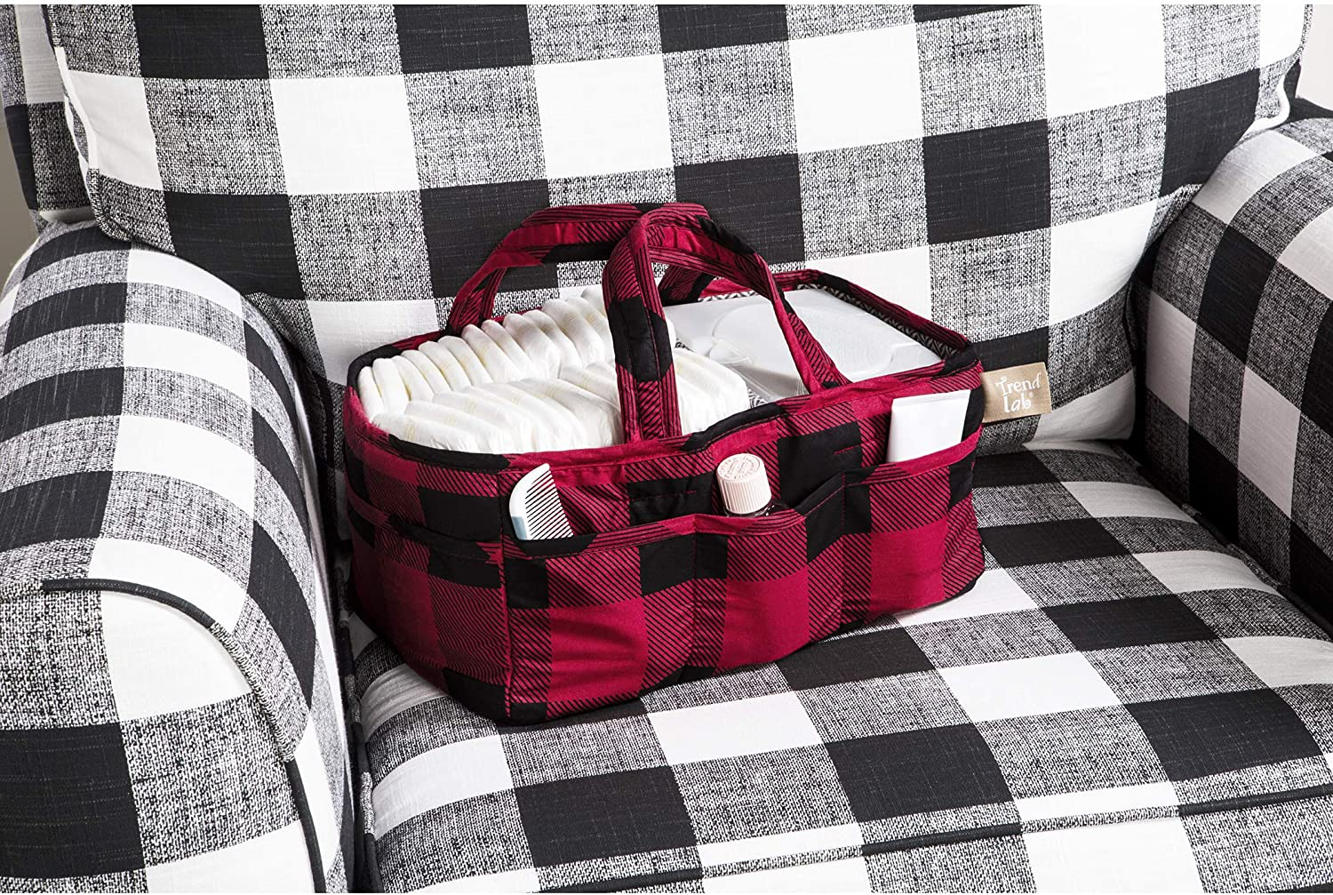 Storage Caddy Trend Lab Red and Black Buffalo Check