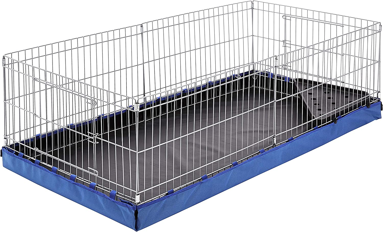 AmazonBasics - Jaula para mascotas con fondo de lona, azul