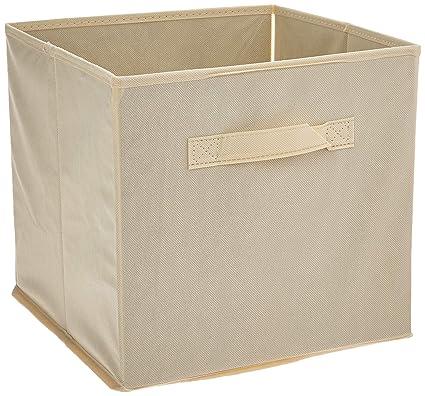 Amazon.com: Home Complete HC 2207 Closet Organizer   Fabric Storage Basket  Cubes Bins   8 Beige Cubicals Containers Drawers,: Home U0026 Kitchen