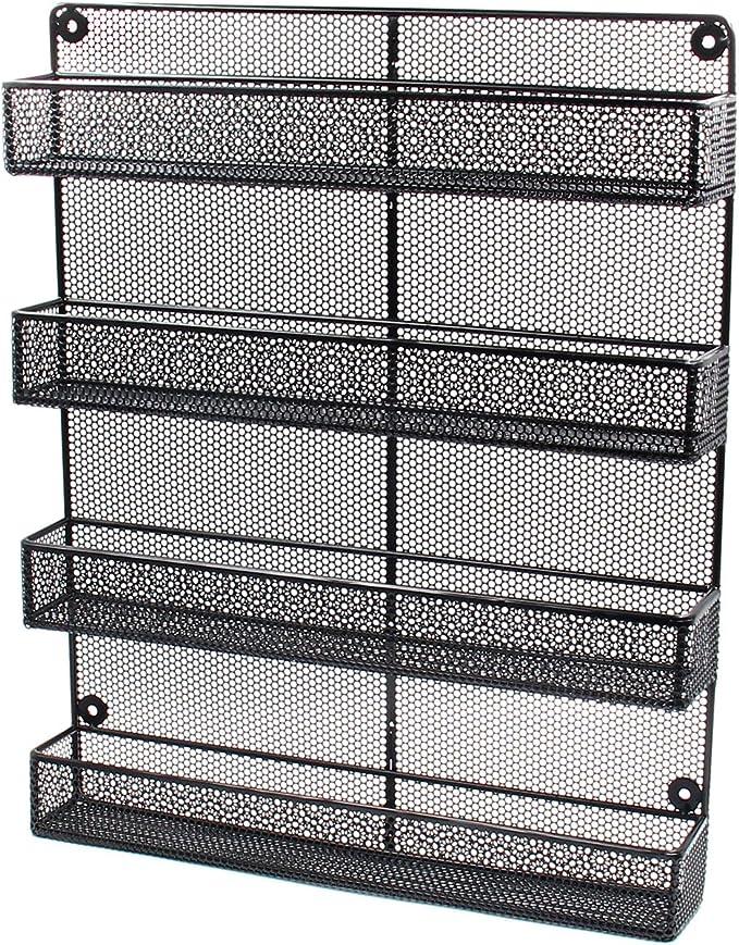 Soporte organizador de pared para especias Esylife con 4 baldas para cocina: Amazon.es: Hogar