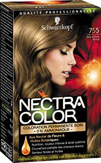 schwarzkopf nectra color coloration permanente 755 blond dor fonc 165 ml - Coloration Sans Ammoniaque Schwarzkopf