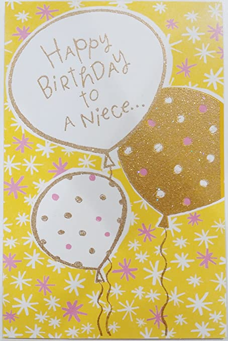 Amazon Com Happy Birthday Niece Greeting Card Who S Way Up There
