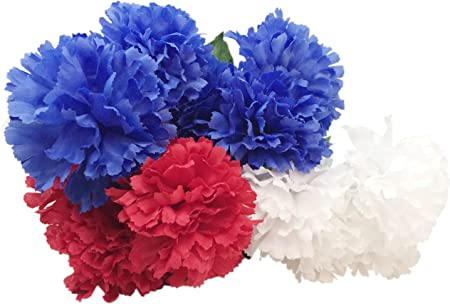 White /& Blue from the America the Beautiful Collection by Moda Floral in Red