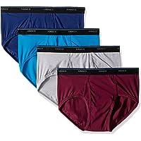 Hanes Mens 7500M4 4-Pack ComfortBlend Dyed Briefs Briefs - Multi