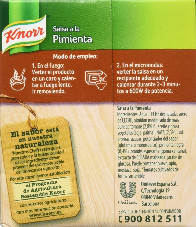 Knorr - Salsa Brick A La Pimienta, 300 ml - [Pack de 2]: Amazon.es: Alimentación y bebidas
