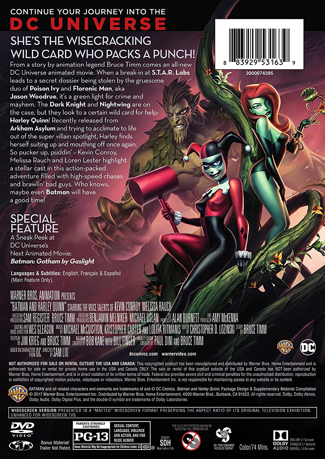 Amazon.com: Batman & Harley Quinn (DVD): Kevin Conroy ...