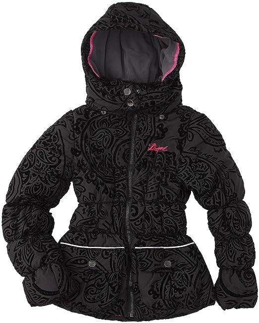 Desigual - Abrigo para niña, talla 14 años (162 cm), color negro 2000: Amazon.es: Ropa y accesorios
