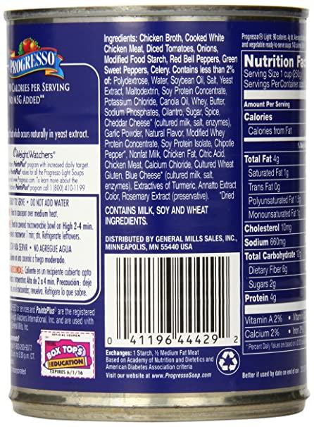 Amazon.com : Progresso Light Soup, Chicken and Cheese Enchilada, 18.5-Ounce Cans (Pack of 12) : Packaged Chowders Soups : Grocery & Gourmet Food