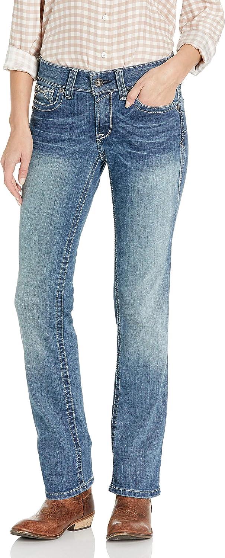 Ariat Womens Womens R.E.A.L Straight Leg Icon Jean 28x33 Rainstorm
