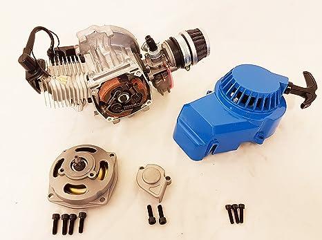 Completo 2 tiempos 49 cc motor de un solo cilindro para minimoto/Mini Quad