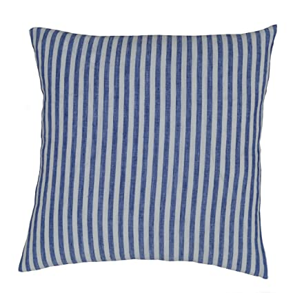 Prime Luxury Linen Damask Navy Blue And White Striped Euro Shams 26X26 Square Pillow Cover Multicolor Ticking Small Thin Pin French Vertical Stripe Sofa Creativecarmelina Interior Chair Design Creativecarmelinacom