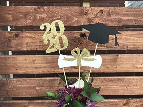 2020 Graduation Party Supplies.Graduation Party Decorations 2020 Graduation Centerpiece Sticks Grad Cap Diploma Class Of 2020 Graduation Decorations Prom 2020