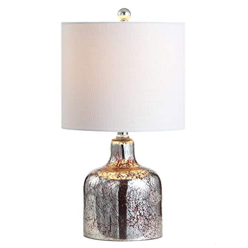 JONATHAN Y JYL1036B Contemporary Gemma Glass Bell LED Table Lamp, 19 , Chrome