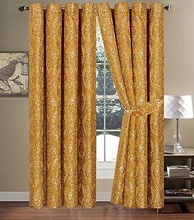 Faith Vorhange Schal Mit Sen Gold Vorhang Gardine Dekoschal Vorhnge 230x230cm Fr Wohnzimmer