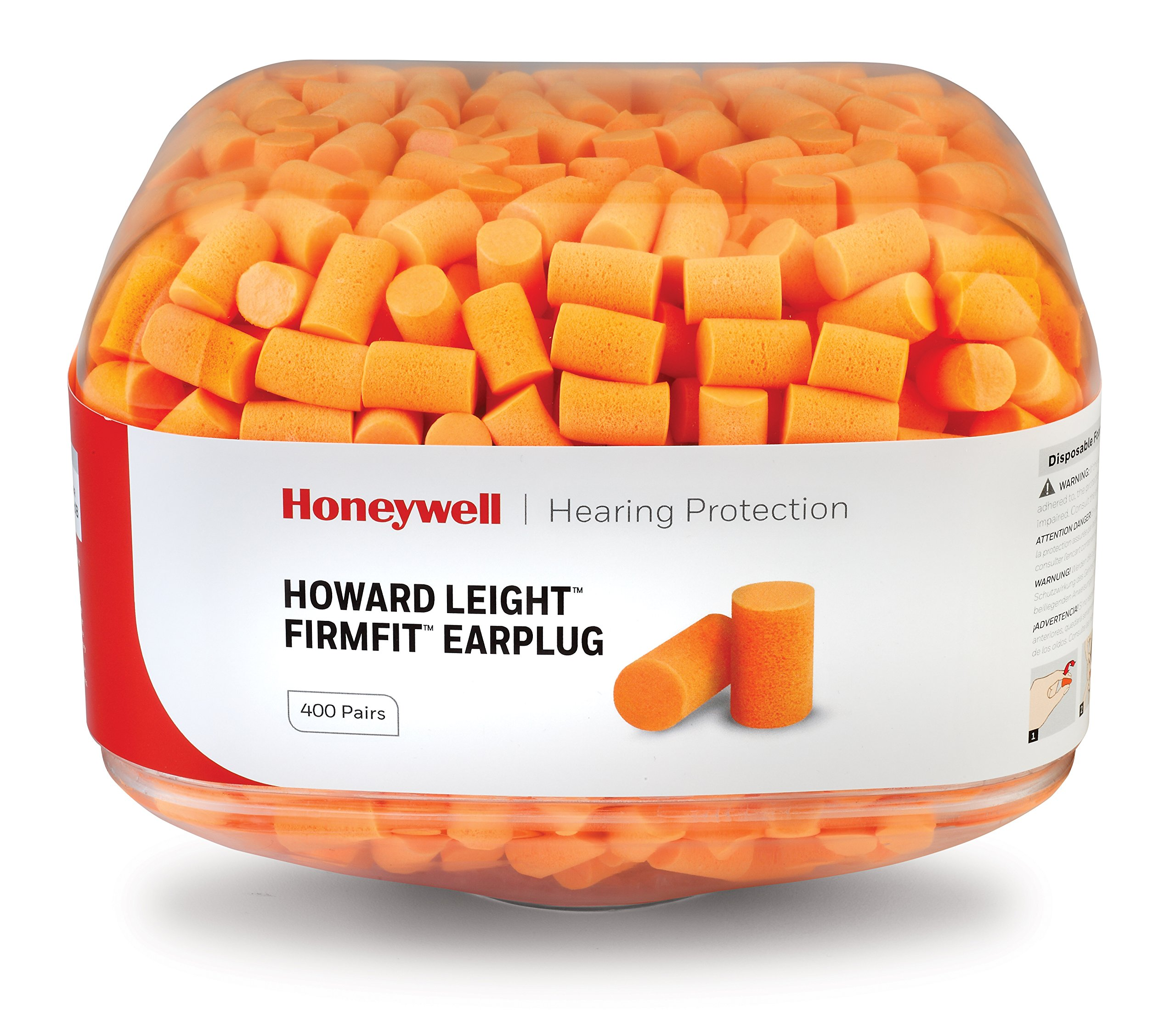 Howard Leight FirmFit Earplug Refill for HL400 Dispenser, 800 Pairs (Two 400-Pair Canisters), NRR 30 (HL400-FF-REFILL) by Honeywell (Image #1)